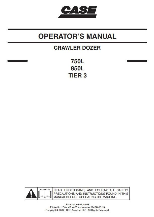 Case CX350C (Tier 4) Crawler Excavator Operating and Maintenance Instructions