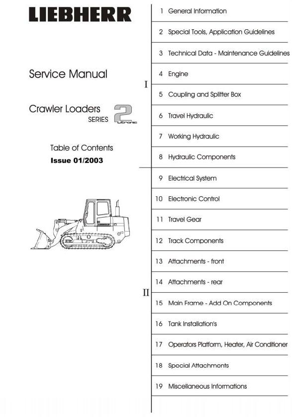 John Deere 655c 755c Liebherr 622 632 Crawler Loaders Service Repair Technical Manual Truck Service Manual Store