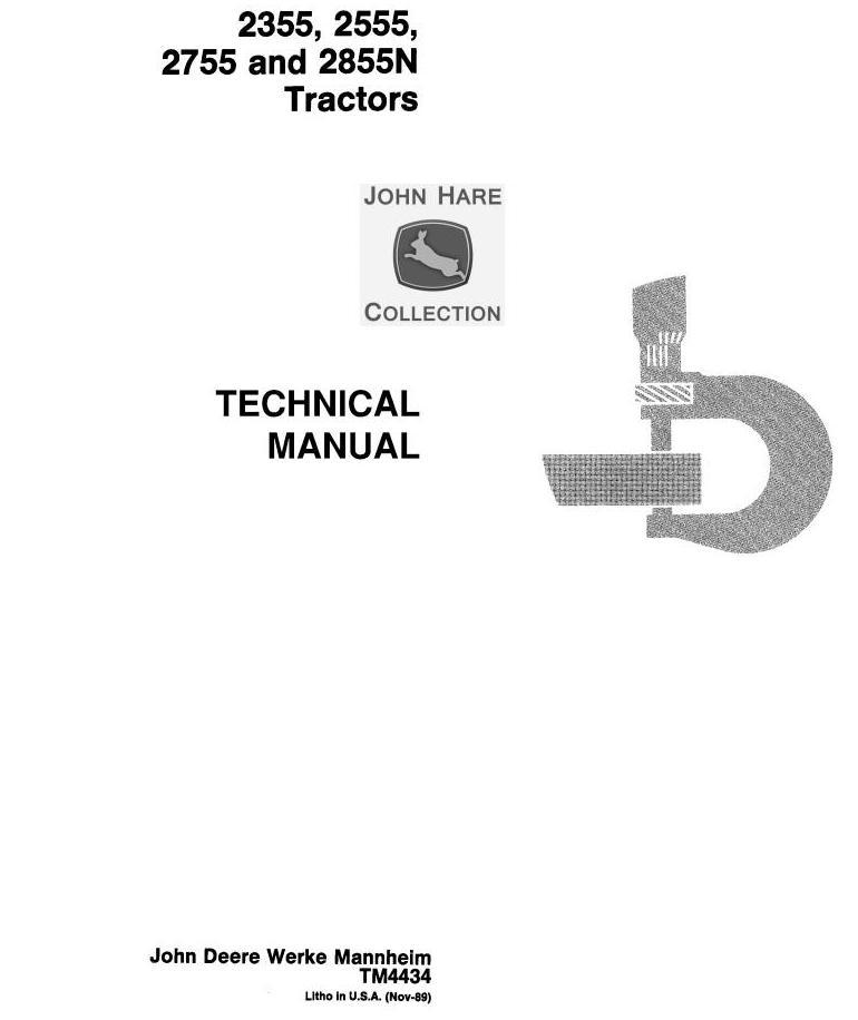 John Deere 2355, 2555, 2755, 2855N Tractors Service Repair Manual (tm4434)  / Truck Service Manual StoreBerlogic