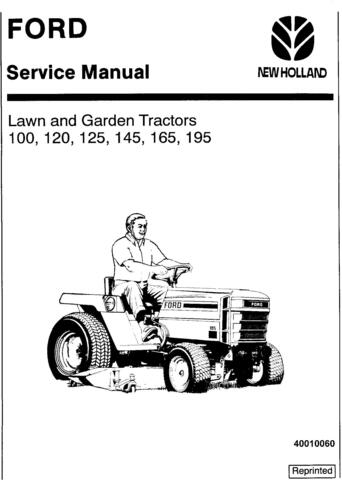 Ford 100, 120, 125, 145, 165, 195 Lawn & Garden Tractor Service Manual