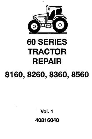 Ford New Holland / 8160, 8260, 8360, 8560 Tractors Complete Service Manual