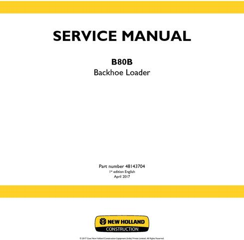 New Holland B80B Backhoe loader Service Manual