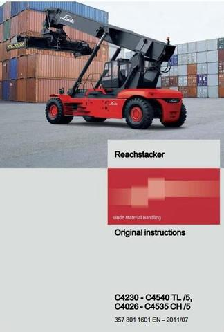 Linde C4026-C4535 CH5, C4230- C4540 TL5 Container Handler 357-05 Series Operating Instructions
