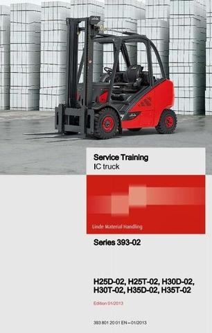 Linde H25, H30, H35 LPG and Diesel Forklift Truck 393-02 Series Service Training (Workshop) Manual